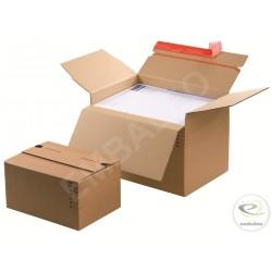 verstellbare Schachtel 22,9 x 16,4 cm mit Klebeband