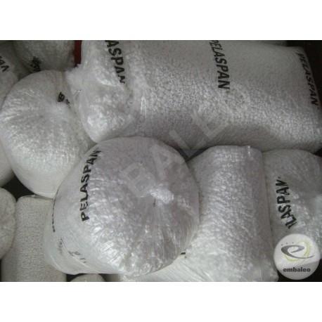Sack mit Verpackungschips aus Polystyrol BIO