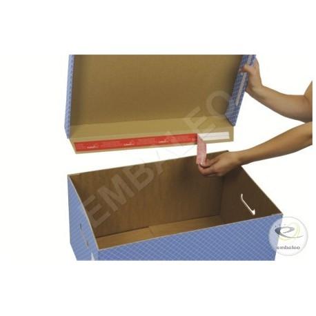 Behälter für graue Archivbox mit Deckel 43 x 33,5 x 27 cm