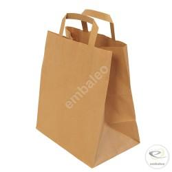 Braune Krafttasche mit flacher Griffe 20 x 10 x 28 cm