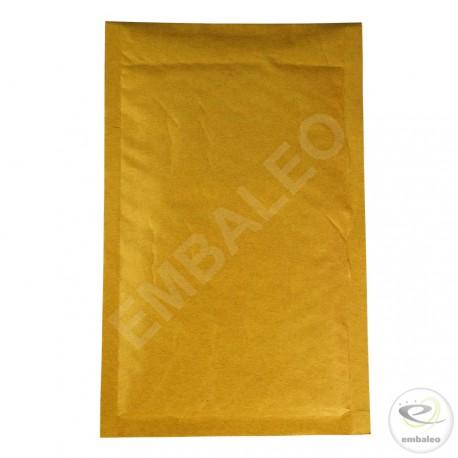 Brauner Luftpolsterumschlag B Mail Lite Gold 12x21cm